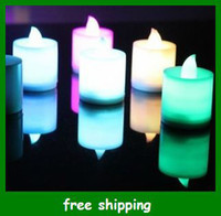 Candle Yes Yes New Electronic candle lamp LED Candles Light Flashing Flameless Wedding lights Gifts Free shipping