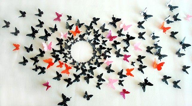 Делаем бабочки 3d на стену