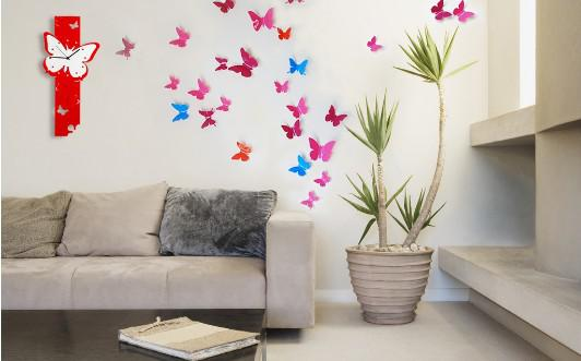 Wholesale 3d Wall - Buy Small 3D Vivid Butterfly Wall Sticker Pop