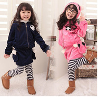 Wholesale Children Clothing Children s Outfits Clothes Sets Y Baby Suit velvet Kids Tracksuit Girl s Suit