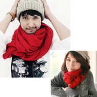 Wholesale scarf pure color long scarf knitted shawl collar autumn lovers scarf winter is necessa