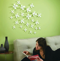 Wholesale 36pcs small D vivid Flower Wall Sticker Home Art Decoration Wallpaper POP up Colors Qt021
