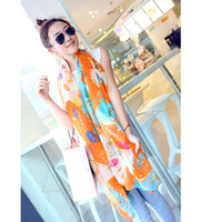 Wholesale 10pcs Mixed Colours Skull Chain Printed Scarf Scarves Shawl Women Lady Girl cm Freeshipping