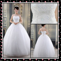 Wholesale 2014 Special Decoration Bridal Gowns with Lace Wedding Dress Simple Sweetheart Applique Ruche Ball Gown Floor Length Wedding Dresses