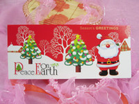 Wholesale Christmas gift Christmas cards handmade creative cards color and style of random