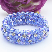 Wholesale Hot sale multi slice beaded bracelet and pure handmade crystal bracelete CB A