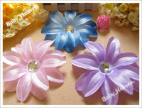 Wholesale 13 Color inch Tropical Lily Hair Flower Hairclips Baby Alligator clips Hair Bows Barrette