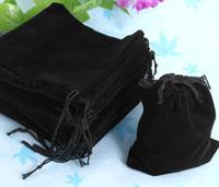 Wholesale Cm Black Velvet Gift Drawstring Pouch Bags