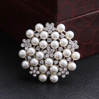 Wholesale Brooches Multi beads Pins Bridesmaid Flower Girl Wedding Pearl Rhinestone LK2326