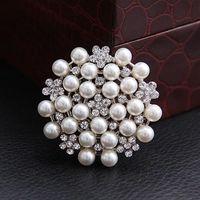 Women's rhinestone brooch - Brooches Multi beads Pins Bridesmaid Flower Girl Wedding Pearl Rhinestone LK2326