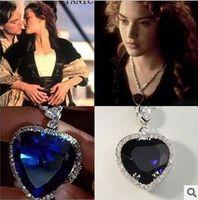 heart of the ocean - Fashion crystal diamond the ocean of heart necklace crystal love necklcae