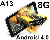 Wholesale 10pcs A76 inch Tablet PC Android Allwinner A13 MB RAM GB Webcam Multi Touch laptop PB07 A6