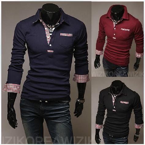 New fashion men 39 s clothing unique design korea slim man for Unusual shirts for men