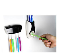 Wholesale Auto Toothpaste Dispensor Toothbrush Holder Set