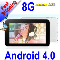 Wholesale 10pcs low price New Ampe A76 Fashion inch Allwinner A13 Android Tablet PC GB P PB07 A6