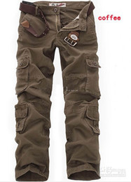 Wholesale 2012 Hot CASUAL MILITARY ARMY CARGO CAMO COMBAT WORK PANTS TROUSERS Cargo Pants SIZE Brown