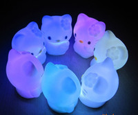 Wholesale LED cute cat Candle light night lamp kid gift with Color Changing for party L004