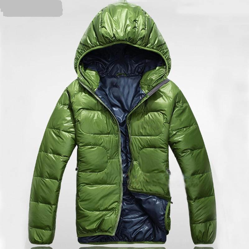 2014 Mens Downjackets British Style Parkas Winter Jacket Leather ...