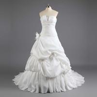 Wholesale 2012 New Style Taffeta Corset Wedding Dresses Tiered Hand Made Flower Luxury
