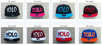 Wholesale New Styles YOLO Snapback Snapbacks Caps Hats Cap Hat Fashion Snapbacks Caps Hats Snap Back Hat Cap