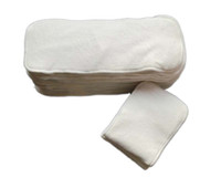 Wholesale 10pcs Layers Super Absorbent Bamboo Cloth Diaper Inserts Reusable Diaper Liners