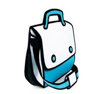 aqua tote bag - Jump From Paper D Cartoon Carry Bag sky blue aqua pink seller china dealer