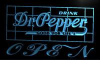 dr pepper - LA076 TM Dr Pepper Drink OPEN Bar Neon Light Sign Advertising led panel