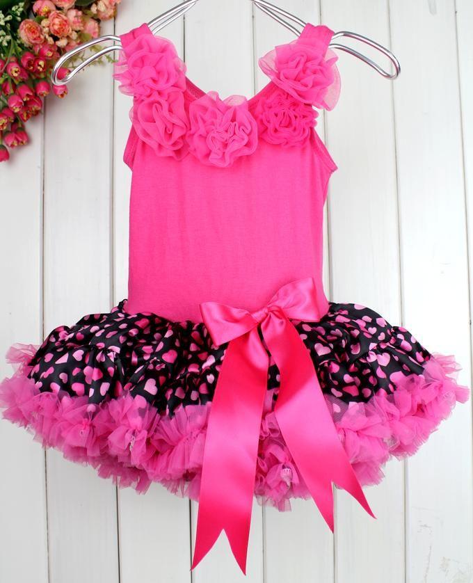 gro handel neues jahr m dchen kleid hot pink love kinder. Black Bedroom Furniture Sets. Home Design Ideas