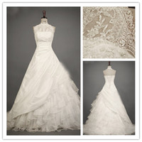 Cheap A-Line organza lace Best Real Photos High Collar princess lace