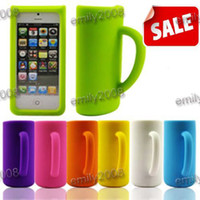 gadgets - 10pcs Newest Novelty Gadgets Creative Mark Cup iPhone5 Silicone Mobile Phone Case Teacup Shell Case
