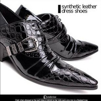 Flat Heel Men Red 2012 British men's leather shoes crocodile leather shoe cusp leather shoes