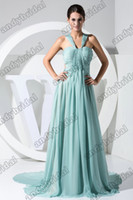 Reference Images oscar - 2012 Sexy Straps V neck Floor Length Ruffle Chiffon Celebrity Dresses Oscar Dresses Prom Dresses