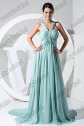Wholesale 2012 Sexy Straps V neck Floor Length Ruffle Chiffon Celebrity Dresses Oscar Dresses Prom Dresses