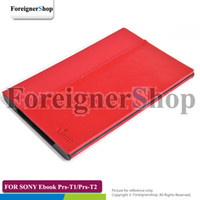 Wholesale 20 Hard Shell Back Leather Case For Sony PRS T1 T2 ebook Reader cover PRS T1 PRS T2 via dhl