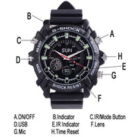 Wholesale New GB Waterproof P IR Spy Watch DVR with Rubber Bracelet Support Night Vision Watch Camera