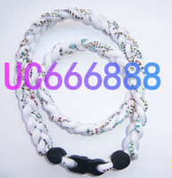 Wholesale GT Rope hockey Germanium Titanium Tornado Sports Necklace White rope color word