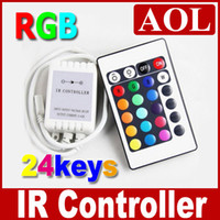 Wholesale 2pcs Keys IR Remote Controller for LED Strips light SMD RGB V A