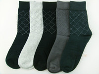 Wholesale Hot Mens Socks Cotton Argyle Crew Socks Thick Casual Socks Warm Hosiery Socks Winter Pairs MJNL