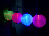 Wholesale Christmas Light Solar Power Chinese Lantern Garden LED Light String
