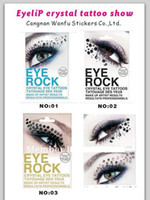 Wholesale 10pairs crystal Eye sticker Fashion tattoo paster Lady eye shadow sticker