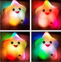 Wholesale Baby Nursery Pillow LED Star Shine Hold Baby Pillows Colorful LED Pillow Colorful Box pc