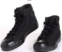 Wholesale New ARRIVING full black high canvas shoes men lady fashion canvas shoes
