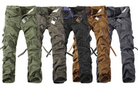 Wholesale Spring multi pocket Cargo Pants Men s loose big yards casual pants men army green pants