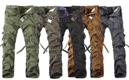 Wholesale Spring multi pocket Cargo Pants Men s loose big yards casual pants men army green pants