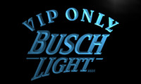 advertising beer - LA444 TM VIP Only Busch Beer Neon Light Sign Advertising led panel