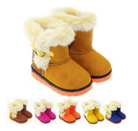 Half Boots Snow Boots Unisex Waterproof snow boots boys 'and girls' boots rubber heavy-bottomed cotton boots