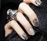 Wholesale 50 Sheets D three dimensional crystal convenient nail polish diamond stickers decal
