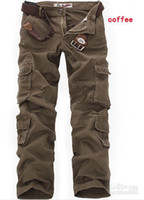 cargo pants - HOT CASUAL MILITARY ARMY CARGO CAMO COMBAT WORK PANTS TROUSERS Cargo Pants SIZE Brown