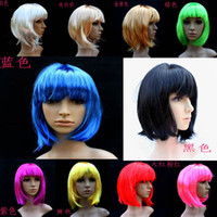 Wholesale 16pcs BOB short hair Halloween party wig party props party supplies multicolor