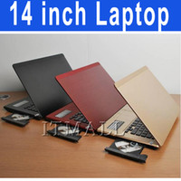Wholesale 14 inch Laptop with DVD RW DVD ROM Intel D2500 Atom Dual core Notebook GHz Win OS Netbook